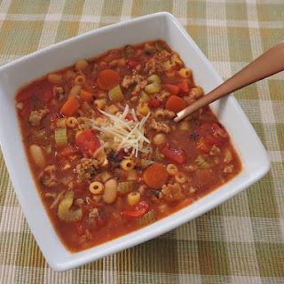 Italian Sausage Minestrone.