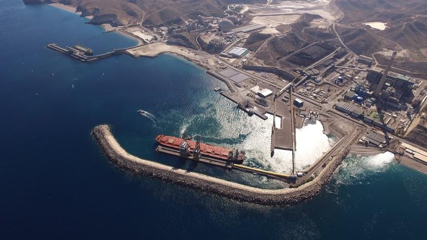 Se prevé una carga de 100.000 toneladas de mineral de hierro.
