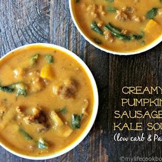Creamy Pumpkin Sausage & Kale Soup