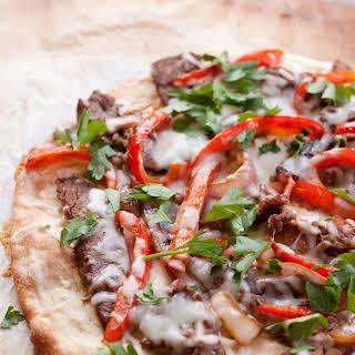 Philly Steak Pizzas.