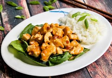 Chicken Rama in Thai Peanut Sauce