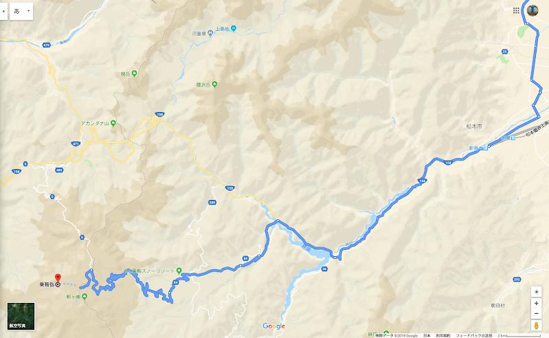 乗鞍岳へのルート