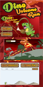 Dino Volcano Run screenshot 1