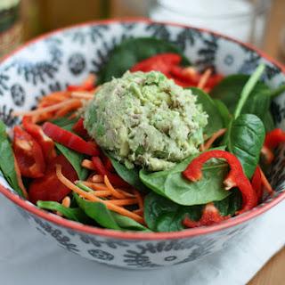 Avocado Tuna Spinach Salad.