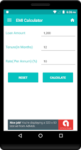 EMI Calculator - Loan EMIs - náhled