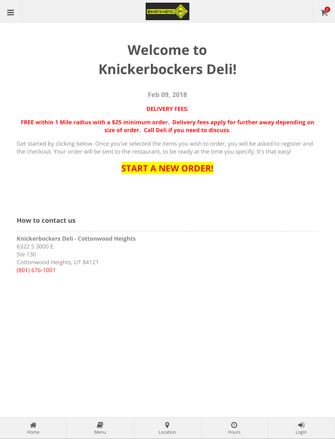 Knickerbockers Deli- screenshot