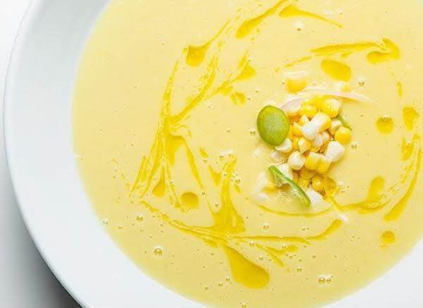 Chilled Corn Soup With Pickled Corn Recipe
