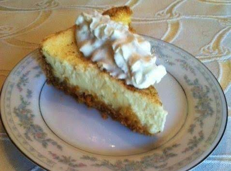Slice Of Aunt Blanche's Inside Out Pineapple Cheese Cake.