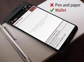Screenshot of Wallet