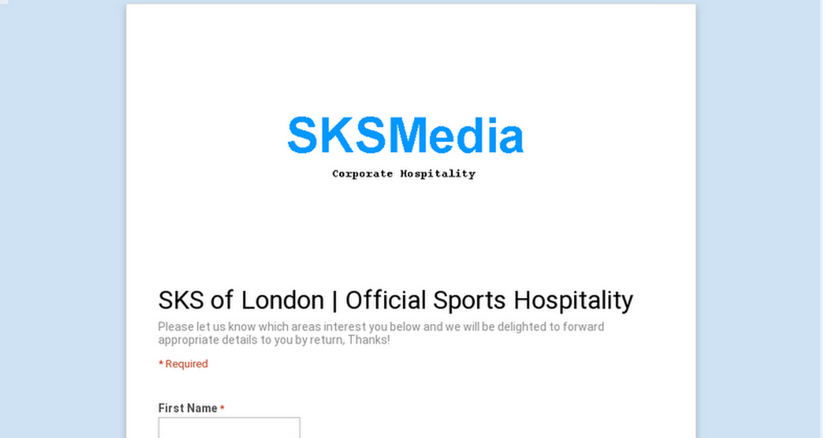 SKS of London | Official Sports Hospitality