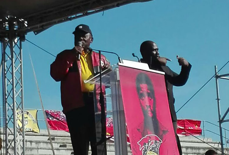 President Cyril Ramaphosa at the May Day rally in Nelson Mandela Bay on May 1, 2018