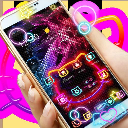 Kitty Cool Neon Theme Aplikasi Di Google Play