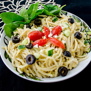Garlic Hummus Pasta