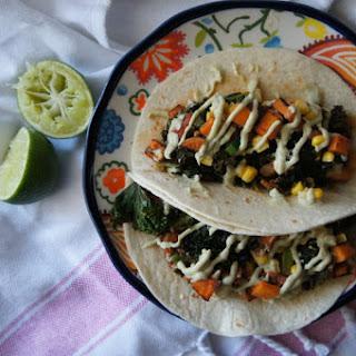 Papas Dulce + Chipotle Kale Tacos