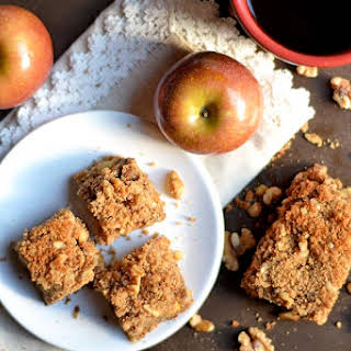 Paleo Apple and Walnut Coffee Cake.