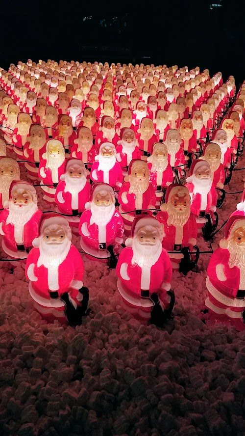 The Santa Clones - a collection of Santa figure lights that appear with only hints to the location that you then have to find. #thesantaclones2017