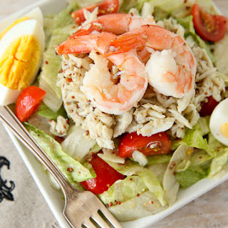 New Orleans Seafood Salad with Creole Mustard Vinaigrette