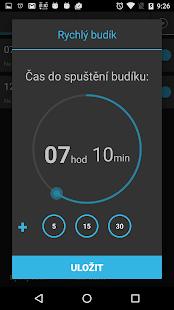 Jednoduchý budík v češtině - náhled