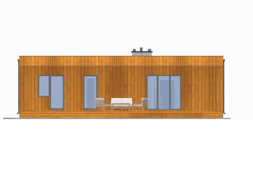 D193 - Dom Prosty - Elewacja tylna