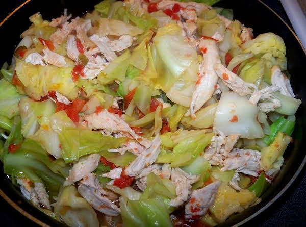 Spicy Cabbage With Chicken Recipe