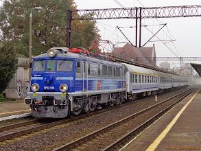 """Photo: EP07-448, TLK """"Sielawa"""" Wrocław Główny - Olsztyn Główny {Toruń Wschodni; 2013-10-17}"""