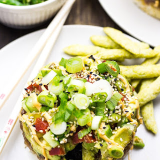 Wasabi-Ranch Spicy Tuna Poke Stacks.