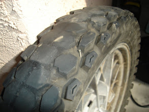 Photo: Ah, so THAT's why the rear tire was losing air pressure! Shame on me for not noticing it before.