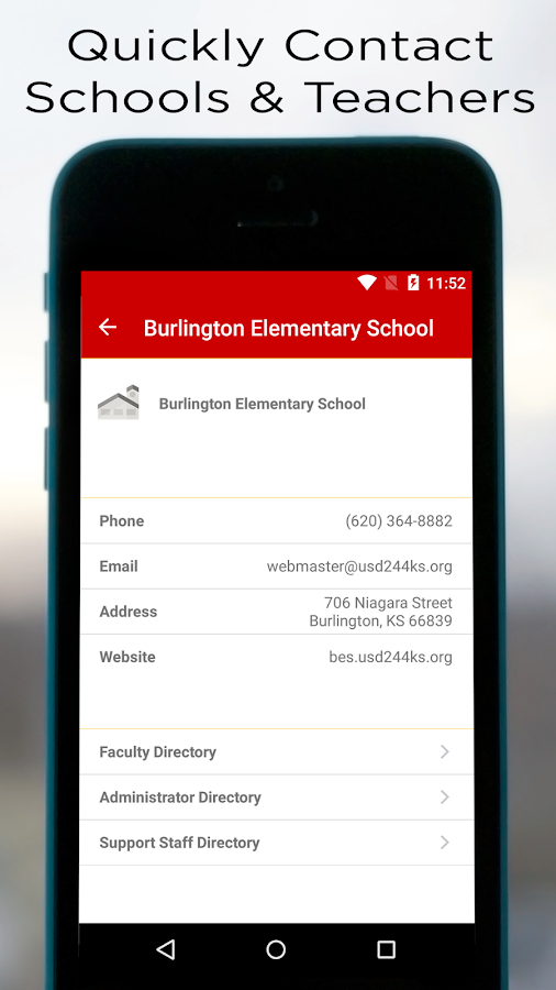 Burlington Schools- screenshot