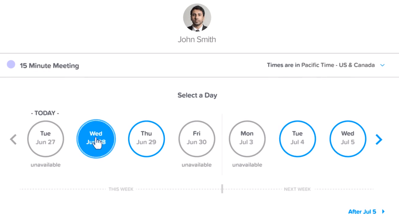 calendly lets your leads schedule meetings with you