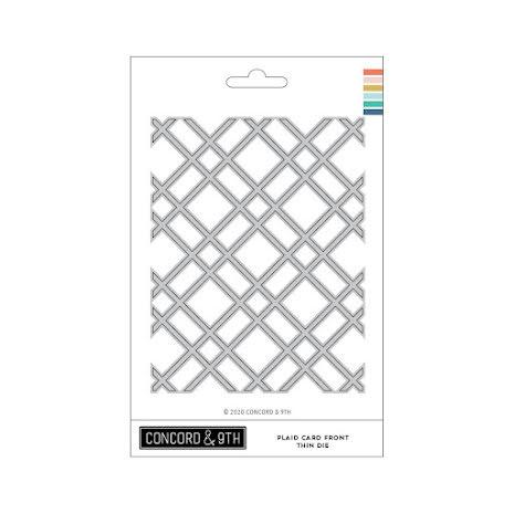 Concord & 9th Dies - Thin Plaid Card Front