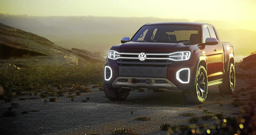 Volkswagen revealed the Tanoak pick-up at New York. Picture: NEWSPRESS UK