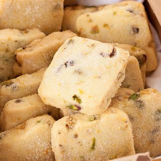 Orange Pistachio Shortbread Cookies Recipe