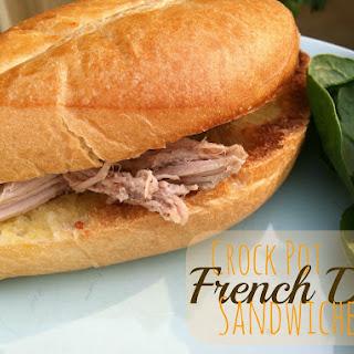 Crock Pot French Dip Sandwiches.