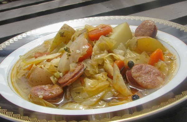Portuguese Sausage And Cabbage Soup Recipe