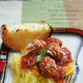 Crock Pot Spaghetti Squash with Meatballs Recipe