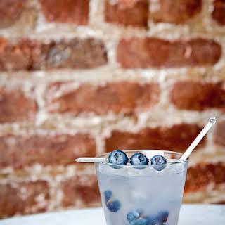 Blueberry Basil Margarita Cocktail.