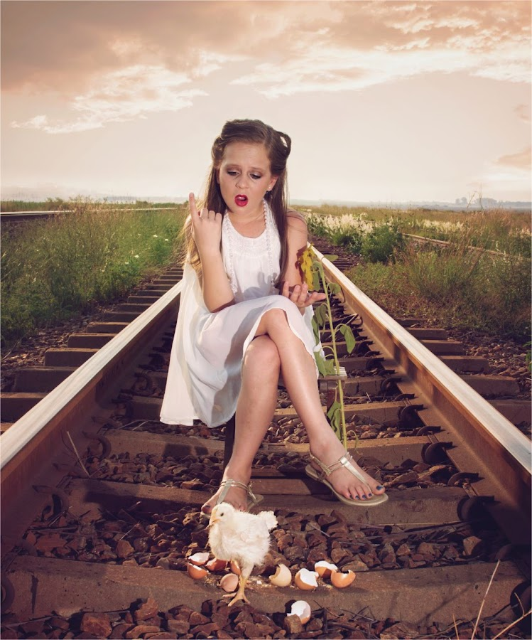 Dont count your chickens before they hatch by Deon De Jager - Babies & Children Child Portraits ( child, nature, sunset, fun, animal )