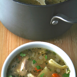Chicken Soup with Homemade Egg Noodles.