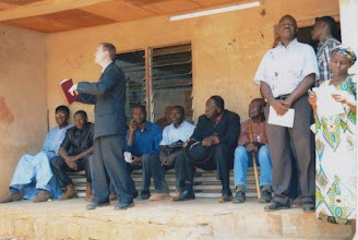 Photo: Preaching at the funeral/burial of Emmanuel Ndi
