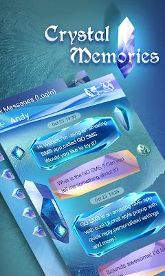 GO SMS CRYSTAL MEMORIES THEME - screenshot