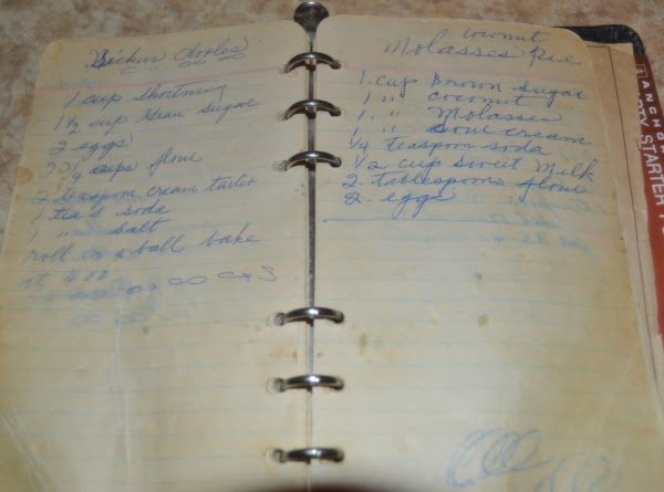 PERSONAL NOTE:  I found this recipe in a notebook that was handwritten by...