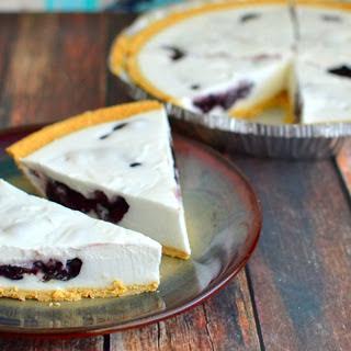 Easy Blueberry Cream Pie [Vegan]