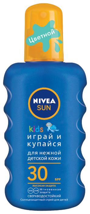 «Нивея» солнцезащитные средства для детей. Крем SPF 30 «Играй и купайся»
