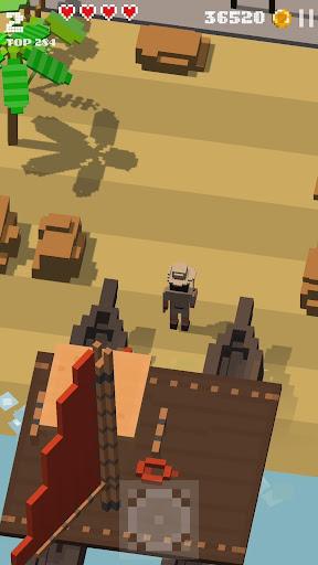 Télécharger Gratuit Jurassic Hopper 2: Crossy Dino World Shooter  APK MOD (Astuce) screenshots 1