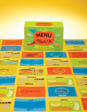 Photo: PLAY WITH YOUR FOOD Here's a game for your foodie friends. Karen Hudes '95 is the brains behind the new board game Menu Mash-Up. $22.95    chroniclebooks.com/titles/ menu-mash-up.html