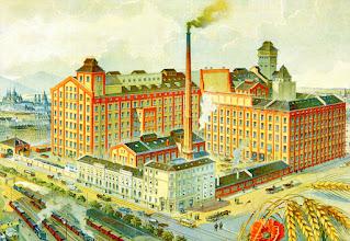 Photo: Plakat reklamowy parowego młyna Gizella (litografia, około 1920r.)Dzielnica Ferencváros w latach 1980-tych stała się nie tylko ośrodkiem przemysłu mięsnego, ale także młynarskiego. Na ulicy Soroksári, między Boráros tér i Közvágóhíd działał wielki młyn parowy. Zboże było wtedy składowane w magazynach na nabrzeżu Dunaju.A Gizella gőzmalom reklámplakátja (kőnyomat, 1920 körül)Ferencváros az 1890-es évekre a húsipar mellett a malomipar egyik kiemelkedő központja lett. A Soroksári úton, a Boráros tér és a Közvágóhíd között öt nagy gőzmalom működött, az őrölt és őröletlen gabonát pedig nagy közraktárakban tárolták a part mentén.