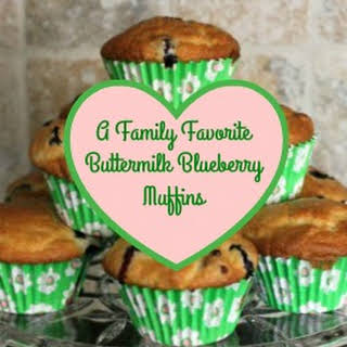 A Family Favorite ~ Buttermilk Blueberry Muffins.