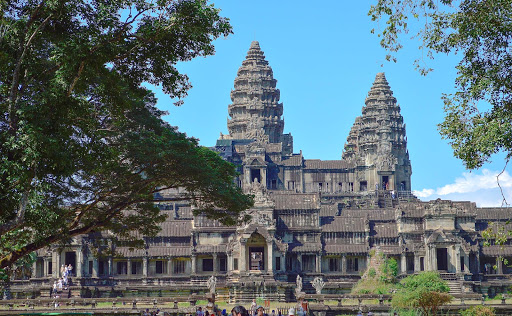 cambodia-temple.jpg - Angkor Wat.  This is considered the centerpiece of Angkor.  Built in the early to mid-12th century AD.