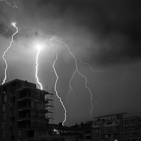 Under Fire  by Aleksandar Zhivkov - Landscapes Weather ( clouds, lightning, lighting, dark sky, storm,  )