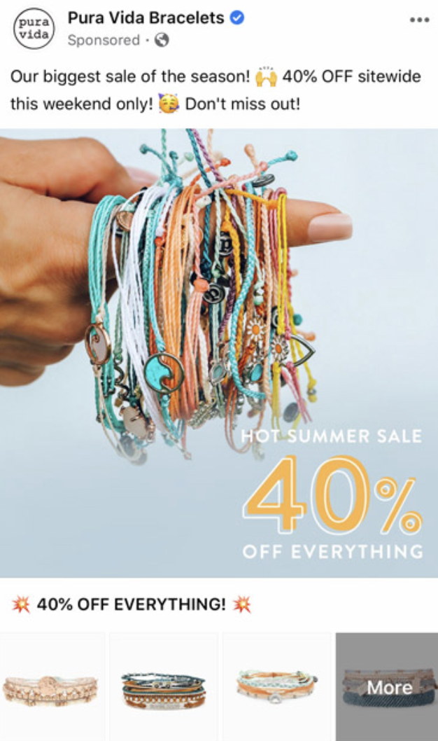 Pura Vida Bracelets collection ad